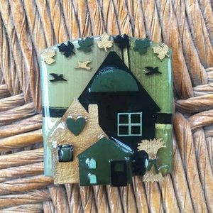 Jewelry - House Pin by Lucinda autumn theme